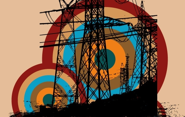 Free Retro electric tower free vector