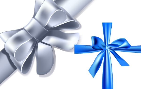 Free Vectors: Blue and silver ribbon | Bazaar Designs