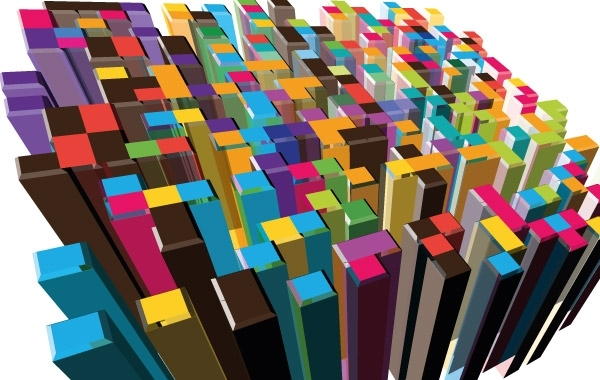 Free 3D Abstract colorful Buildings