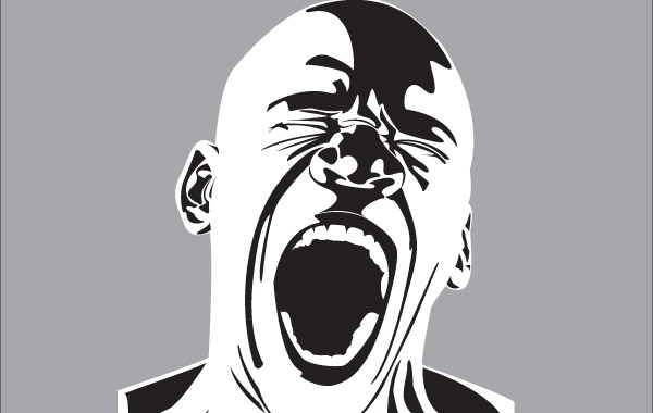 Free Screaming man free vector
