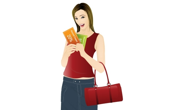 Free Girl shopping with coupon discount
