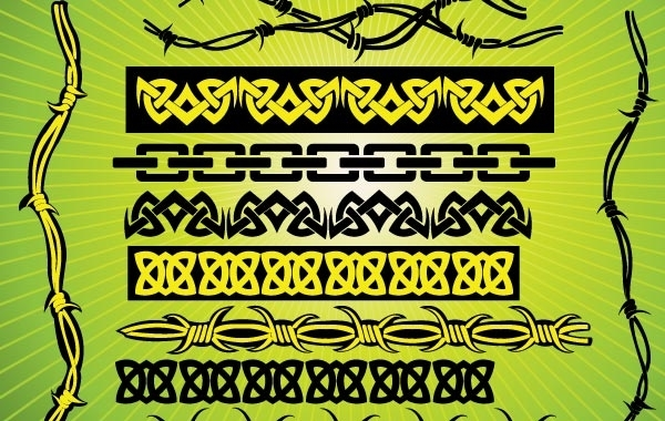 Free Barbed Wire Tribal Vectors