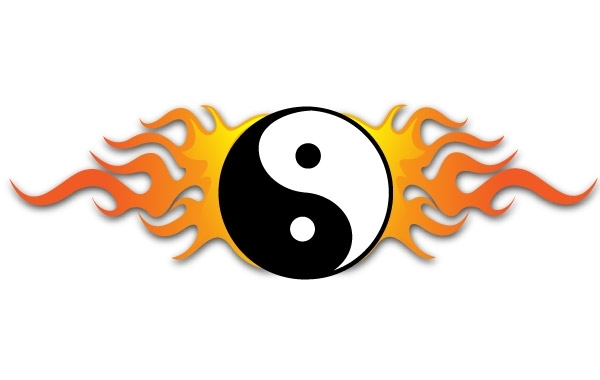 Free YING YANG FIRE VECTOR
