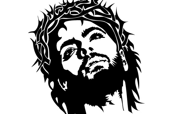 Free JESUS CHRIST FACE VECTOR IMAGE