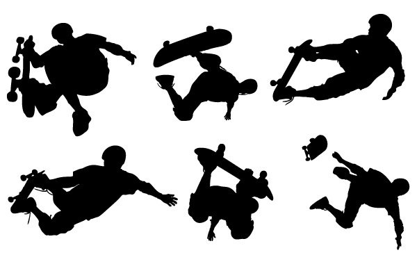 Free Skate Boarding Art Vectors- Free