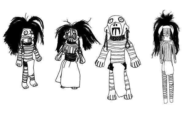 Free Southwest Native American Figurine Dolls - Design Vectors