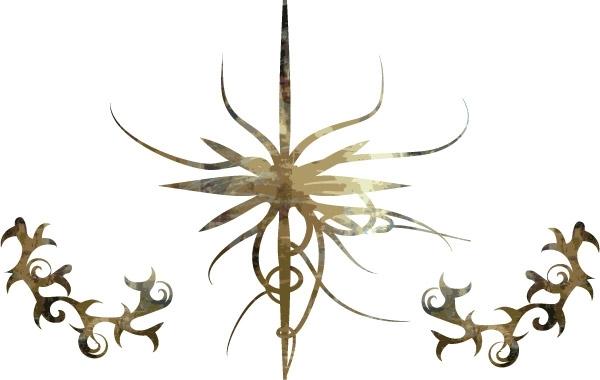 Free Set of grunge, distressed thorns
