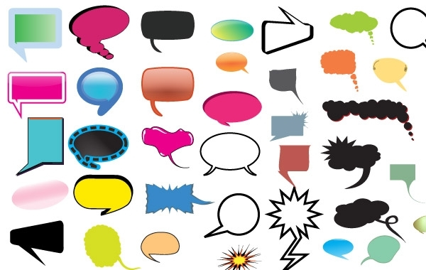Free Thought and Speech Bubbles Pack