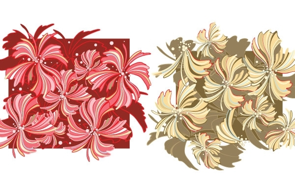 Free Whispy Flower Vector Wallpaper- Free