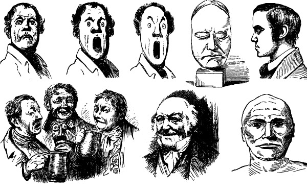 Free 14 Freaky Faces Free Vector Art