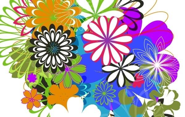 Free Random Free Vectors Part 7 Flowers