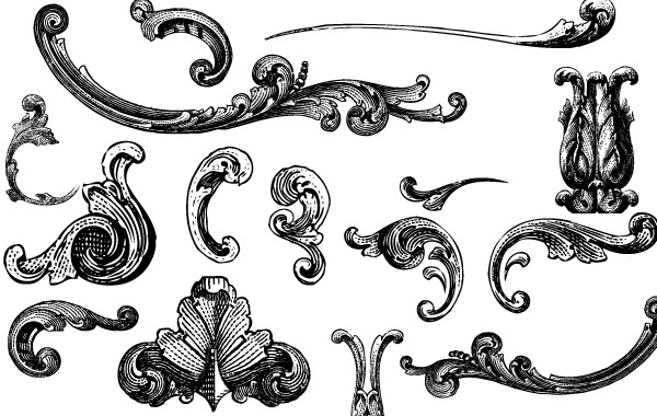 Free Free Vectors: Engraved Ornaments