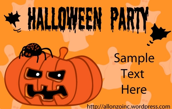 Free Halloween Party Invitation Card 1