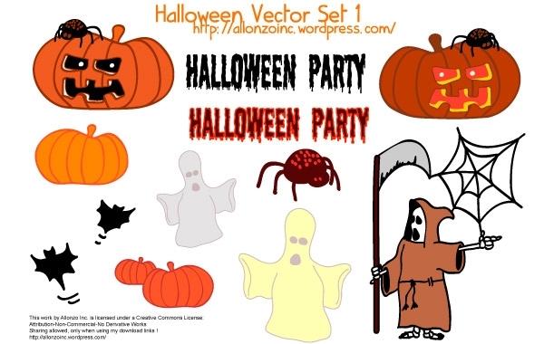 Free Halloween Vector Set 1