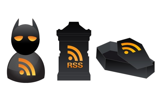 Free Vectors: 3 Halloween RSS Icons | DaPino