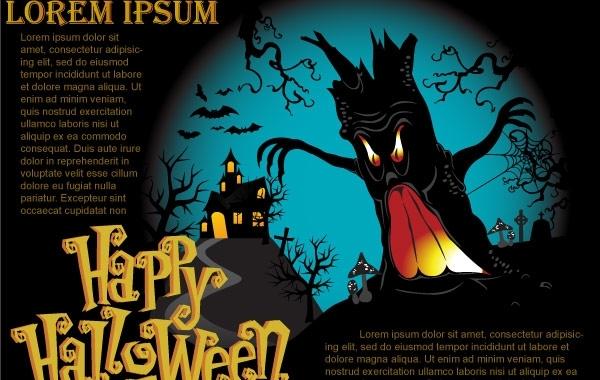 Free Halloween Vector Poster