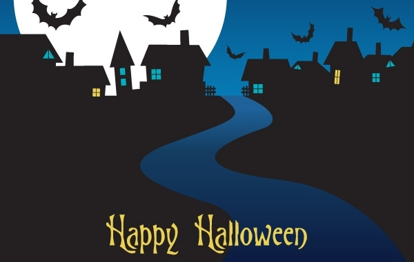 Free Halloween Night Card Vector