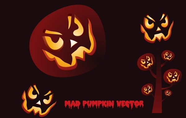 Free Mad Pumpkin Vector