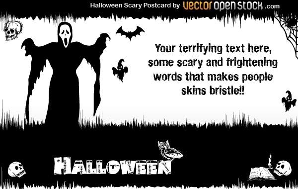 Free Halloween - Scary Postcard