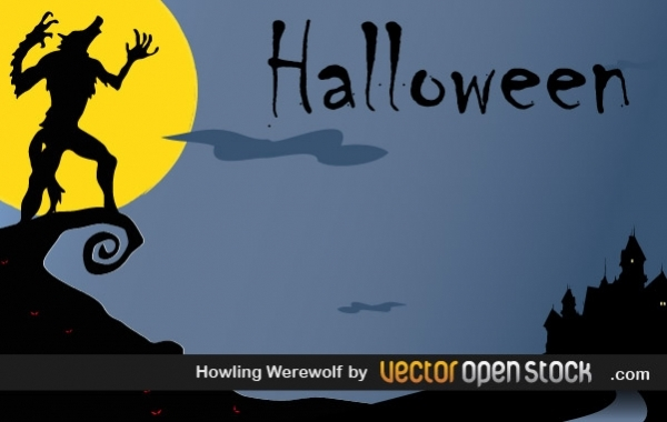 Free Halloween - Howling WereWolf