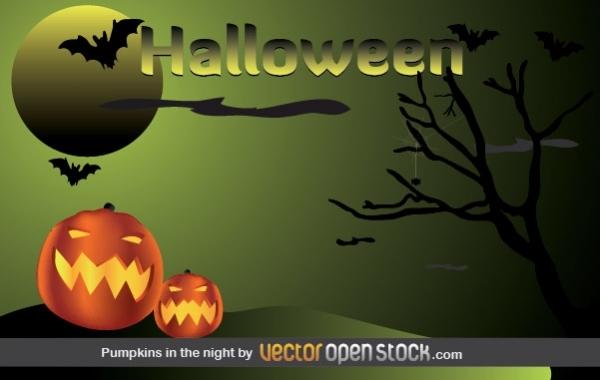 Free Halloween - Pumpkins in the night