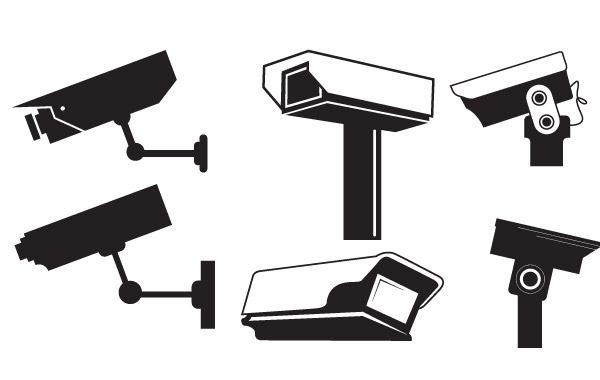 Free CCTV Camera Vector Graphics