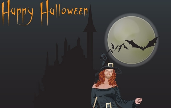 Free Halloween witch free vector