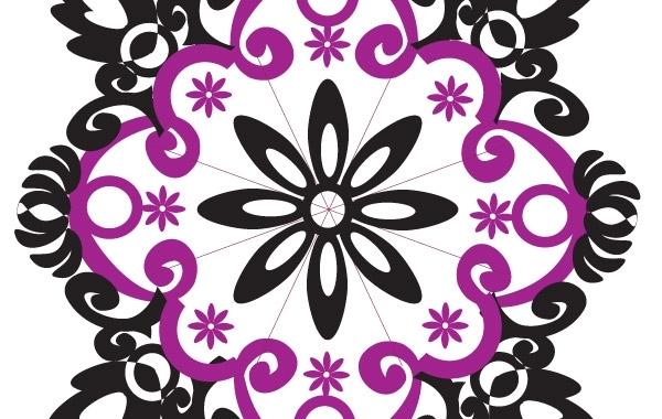 Free Flower type Ornament Shape