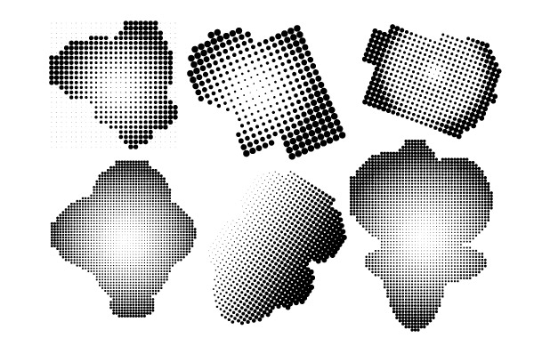 Free Halftone Free Vector and Photoshop Brush Pack