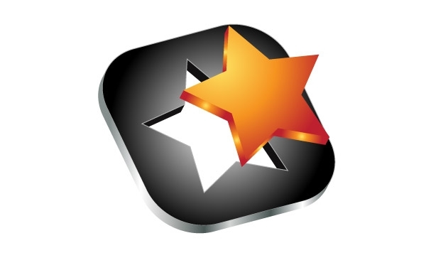 Free 3d star vector icon