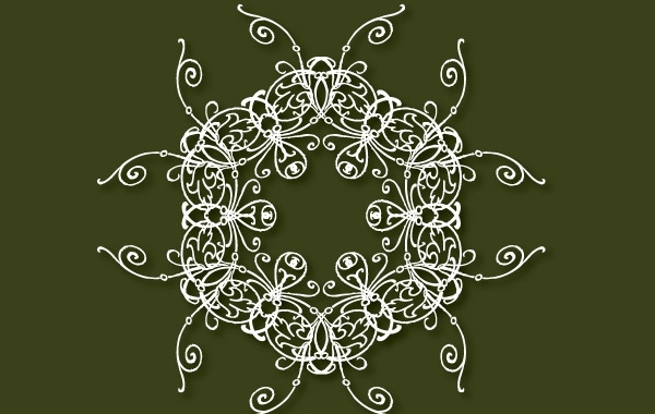 Free Decorative free vector on the green background