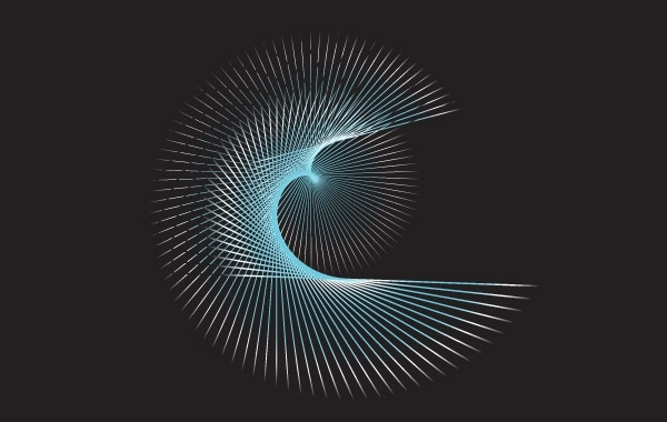 Free Blue flowing curves free vector