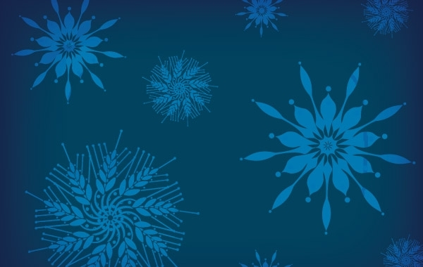 Free Holiday snowflakes free vector