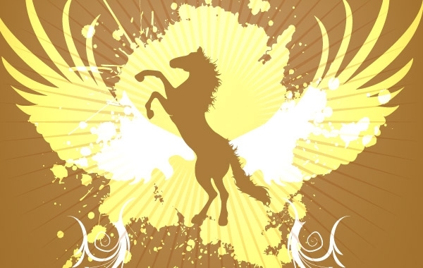 Free Golden Horse background vector