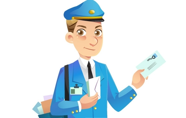 Free Mail Man Vector