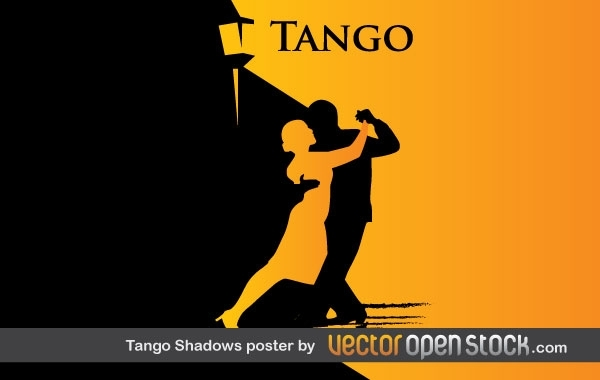 Free Vectors: Tango Shadows Poster  | Vector Open Stock