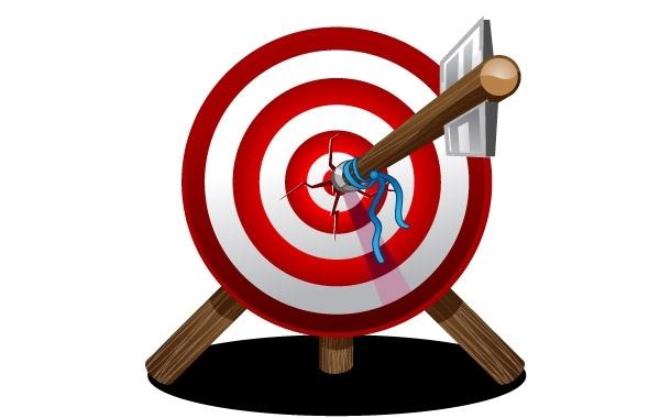 Free Arrow on target