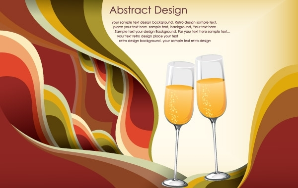 Free Abstract celebration template free vector