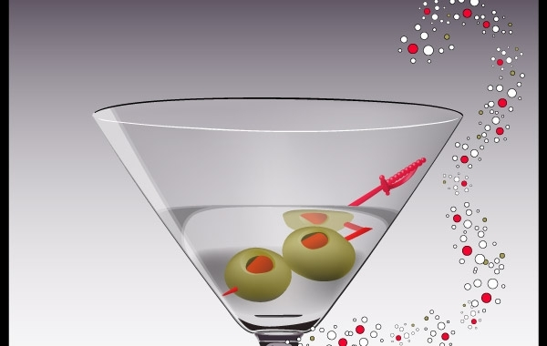 Free Martini Glass Vector