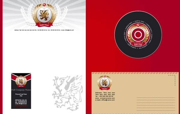 Free Corporate Identity Template white and red