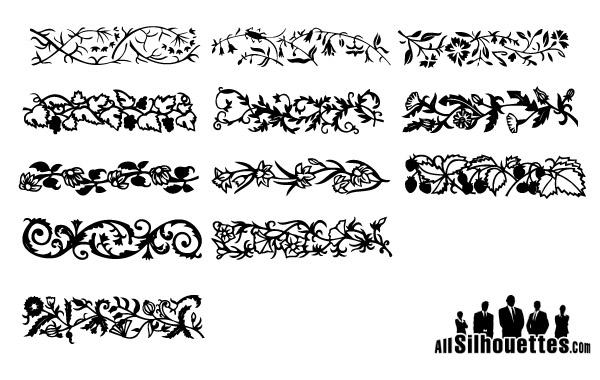 Free Floral borders free vector