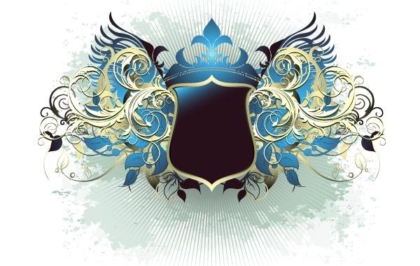 Free Ornate heraldic shield