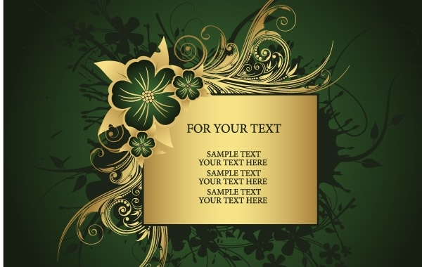 Free Golden frame for text