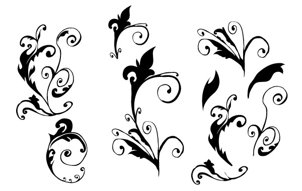 Free Curly Vector hand made