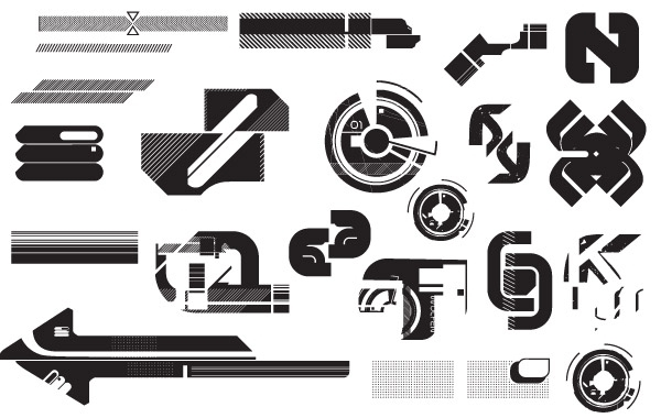 Free high-tech vectors pack1