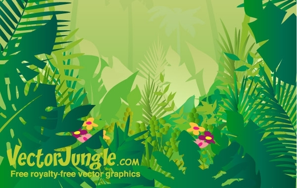 Free FREE VECTOR JUNGLE BACKGROUND