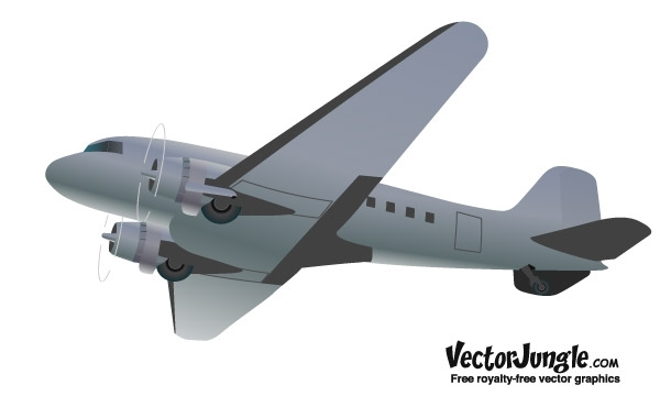FREE RETRO STYLED VECTOR AIRPLANE