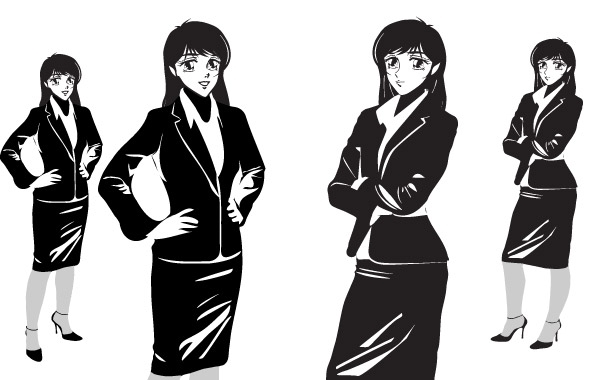 Free MANGA NOIR FEMALE - OFFICE