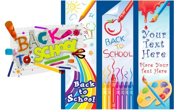 Free Free Vector Graphics School Set