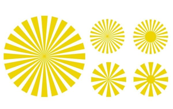 Free sun ray: svg vectors
